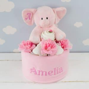 Personalised Baby Girl Gift - Nappy Cake