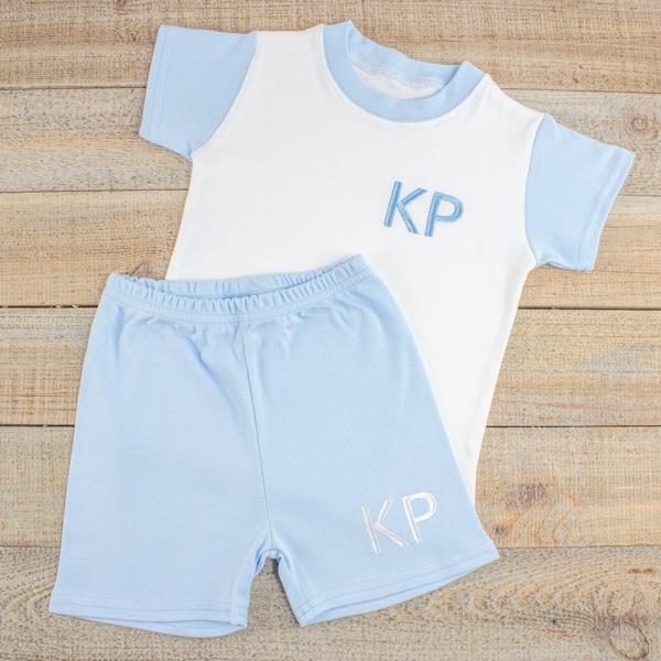Personalised Baby Boy Summer Loungewear