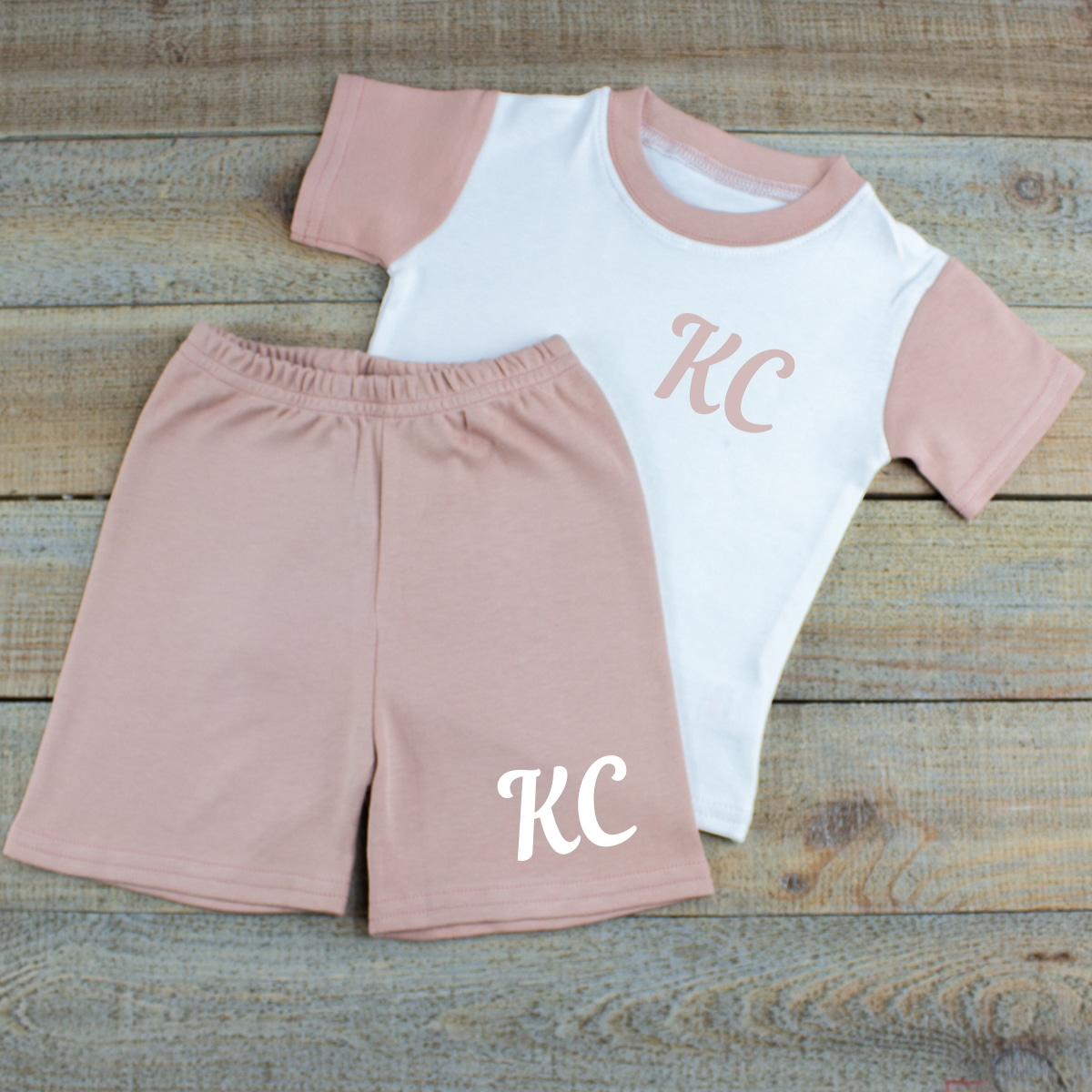 Personalised Baby Girl Summer Clothes Set