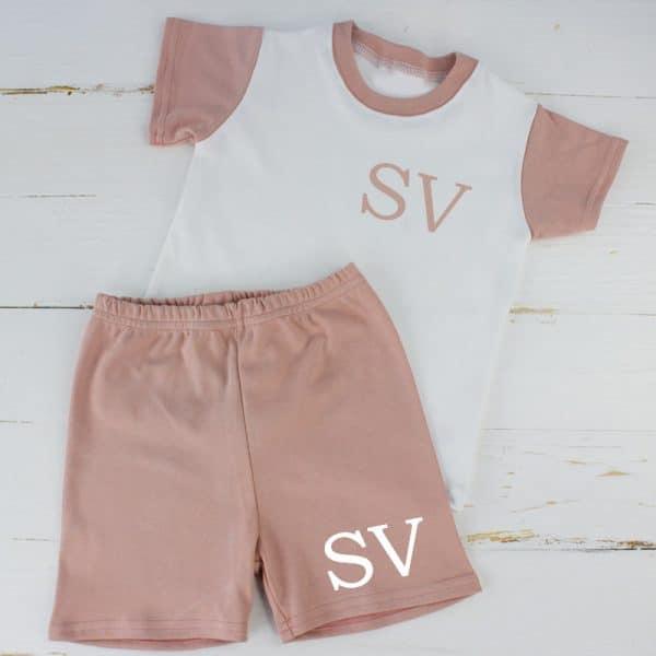 Personalised Baby Girl Summer Loungewear