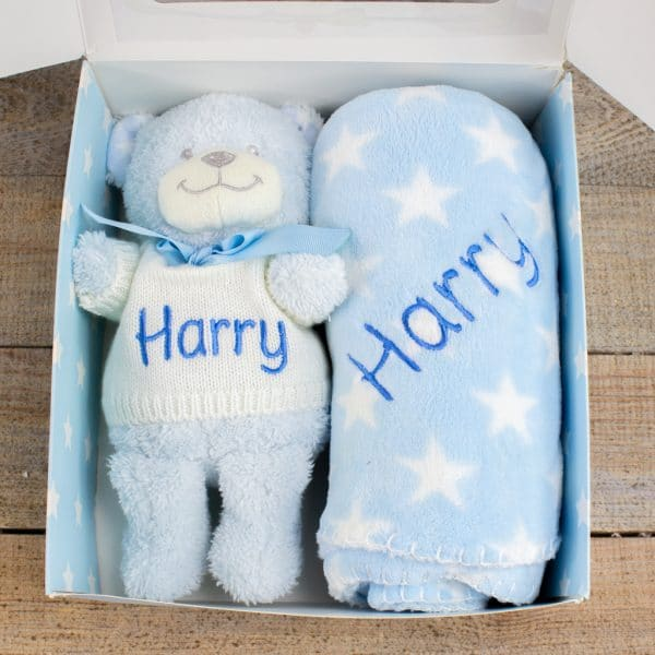 Personalised Blue Baby GIft Box