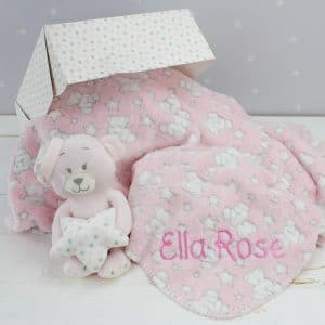 Personalised Pink Teddy Bear Gift Set