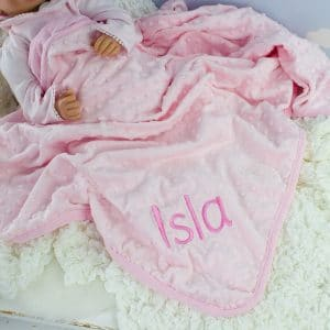 Personalised Pink Baby Girl Blanket