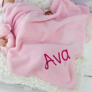 Personalised Pink Baby Fleece blanket