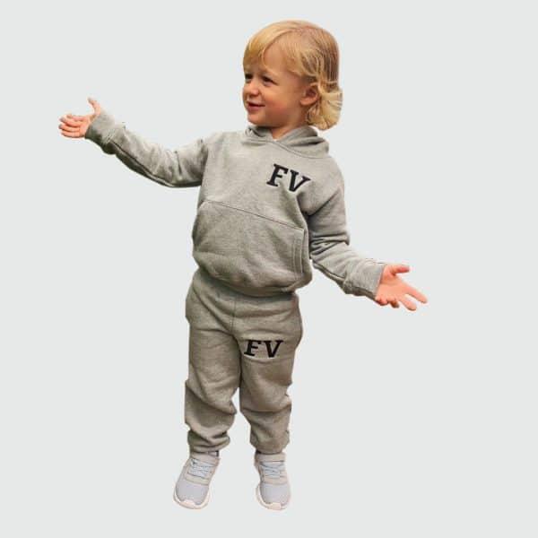 Personalised Grey Baby & Toddler Hoodie Tracksuit