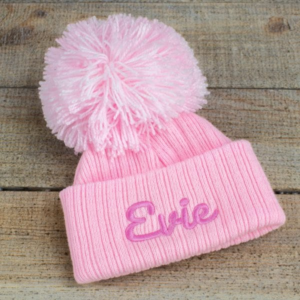 Personalised Pink Baby Girl Hat