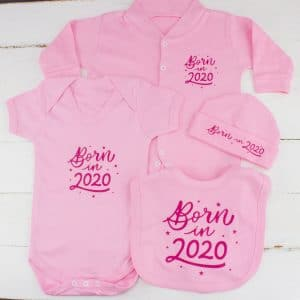 Pink Baby girl born in 2020 clothes gift