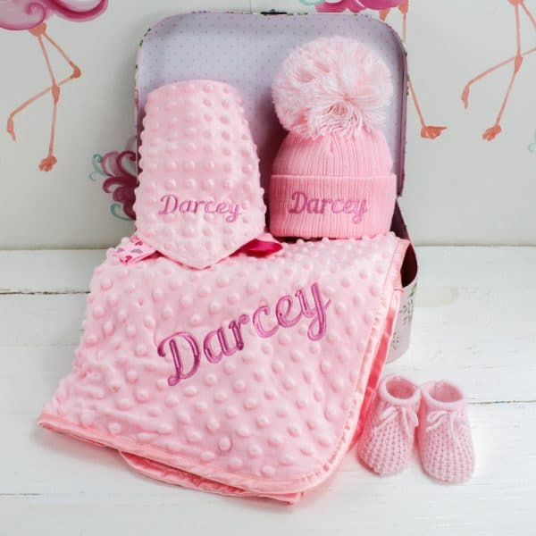 Personalised Baby Girl Winter essentials gift box