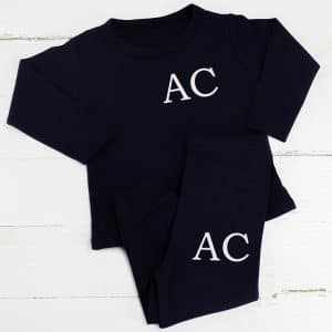 Personalised Navy Baby & Toddler Loungesuit