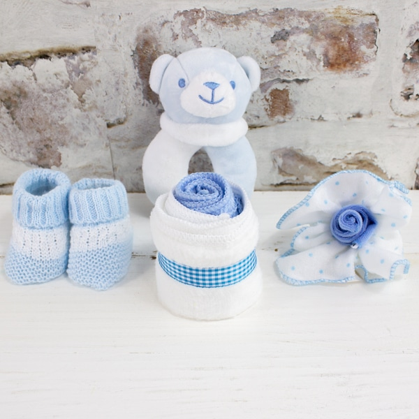 Personalised Baby Boy GIft Set Accessories