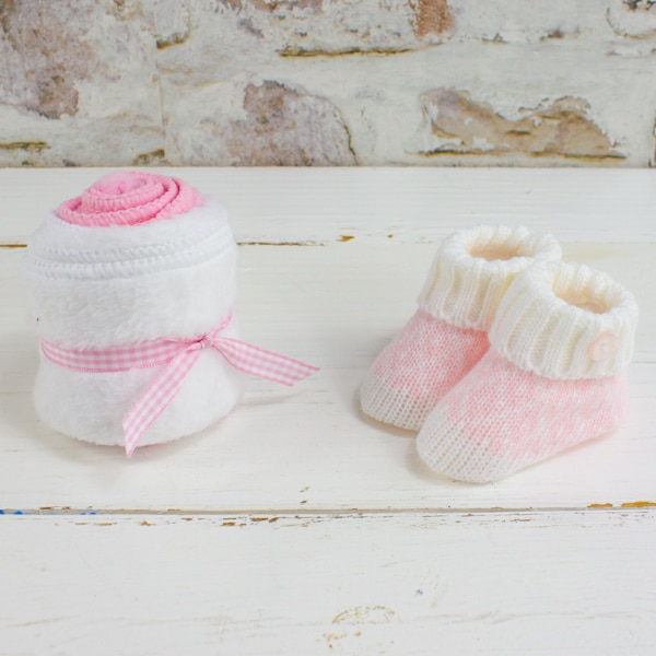 Baby Booties & Wash Cloths