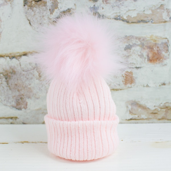 Baby Girl Pom Hat