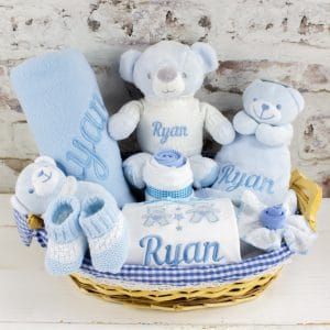 Personalised Baby Boy Gift Hamper