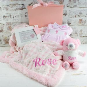 Personalised Pink Teddy Bear Gift Box