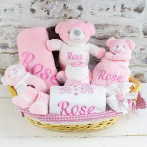 Personalised Baby Girl Gift Hamper