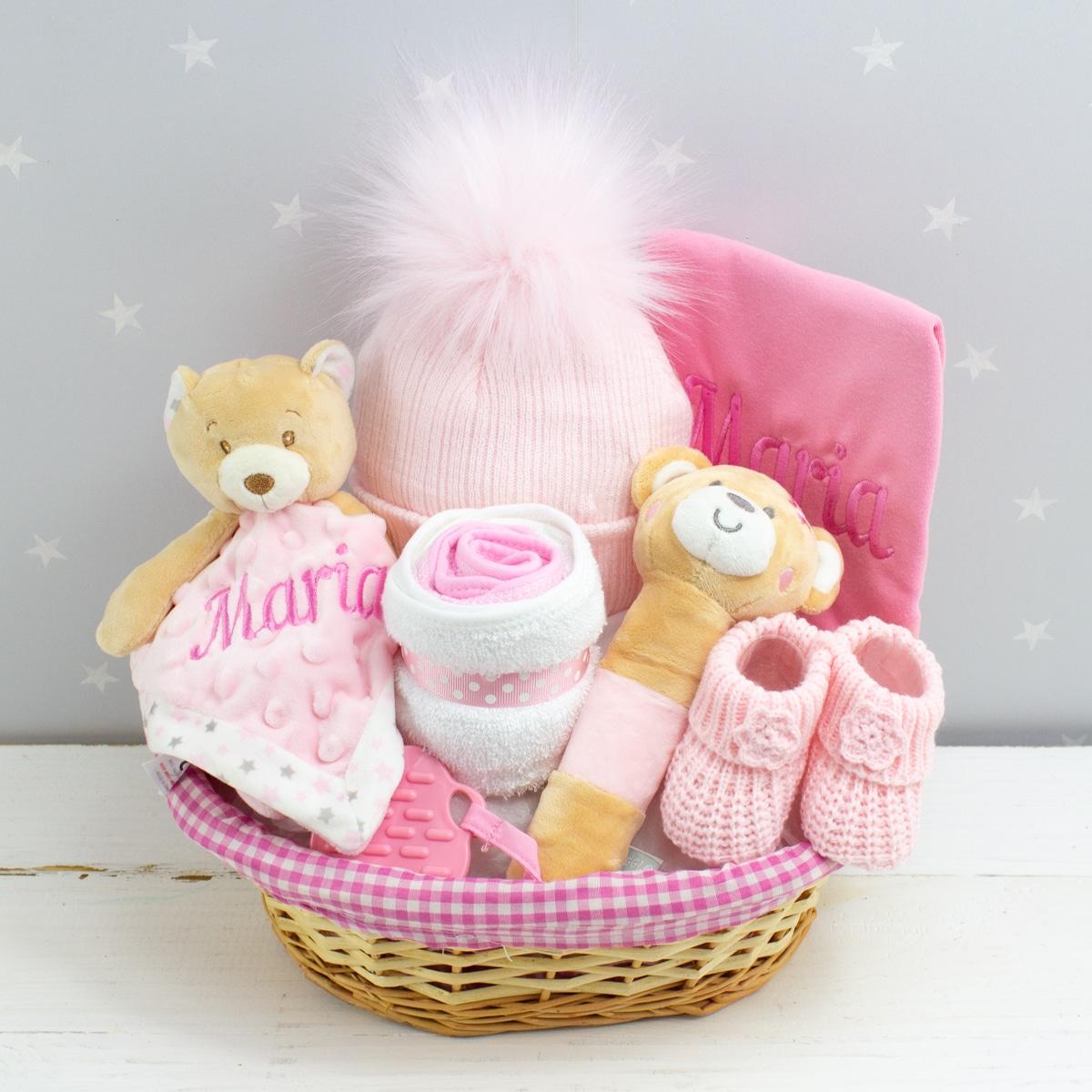 Personalised Baby Girl Gift Hamper