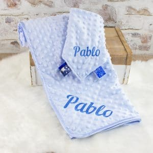 Personalised Baby Boy Blanket & Comforter Set
