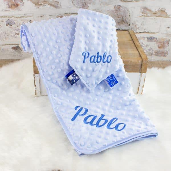 Personalised Baby Boy Blanket & Comforter Set