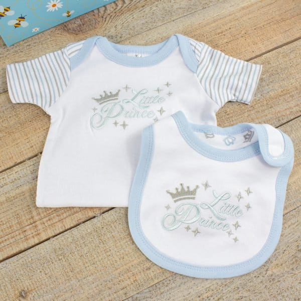 Baby Boy Clothes Gift Hamper - Bib & Bodysuit
