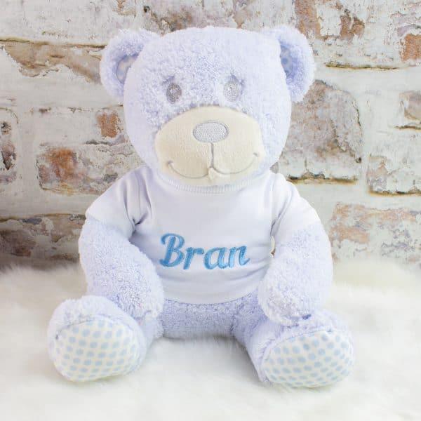 Personalised Baby Boy Teddy Bear