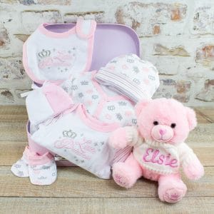 Personalised Baby Girl Clothes GIft Hamper