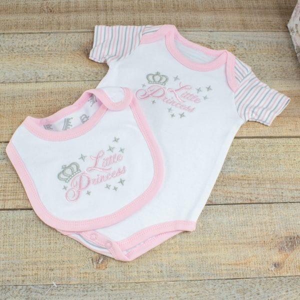 Baby Girl Gift Hamper - Sleepsuit & Bib
