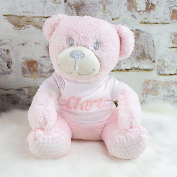 Personalised Baby Girl Teddy Bear