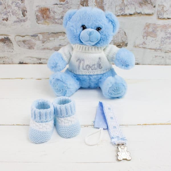 Personalised Baby Boy Gift Hamper - Teddy Bear