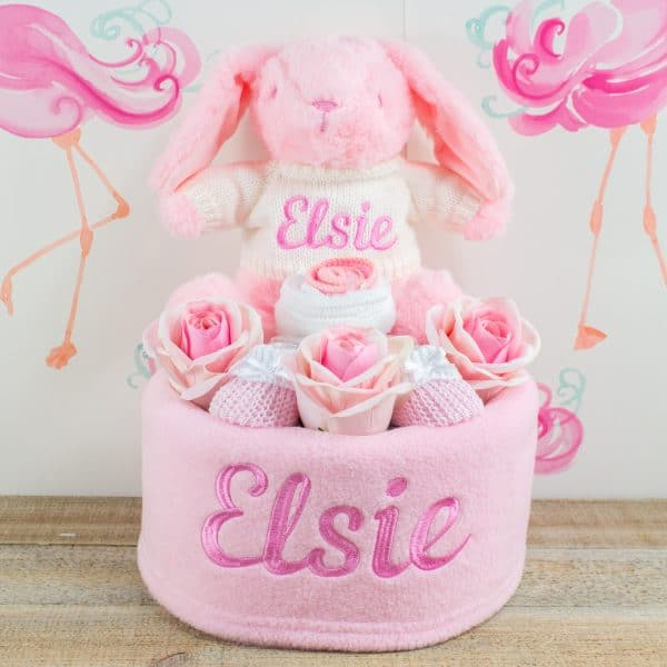 Personalised Baby Girl Nappy Cake