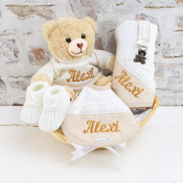 Personalised Gold Baby Gift Hamper