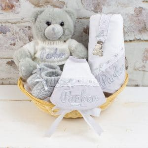 Personalised Grey 'Sweet Baby' Gift Hamper
