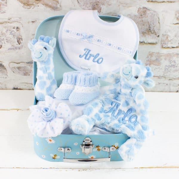 Personalised Baby Boy Blue Gift Hamper