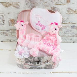 Personalised Baby Girl Pink Gift Hamper