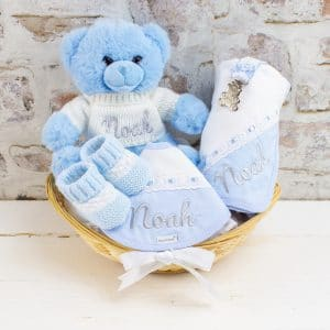 Personalised Blue 'Sweet Baby' Gift Hamper