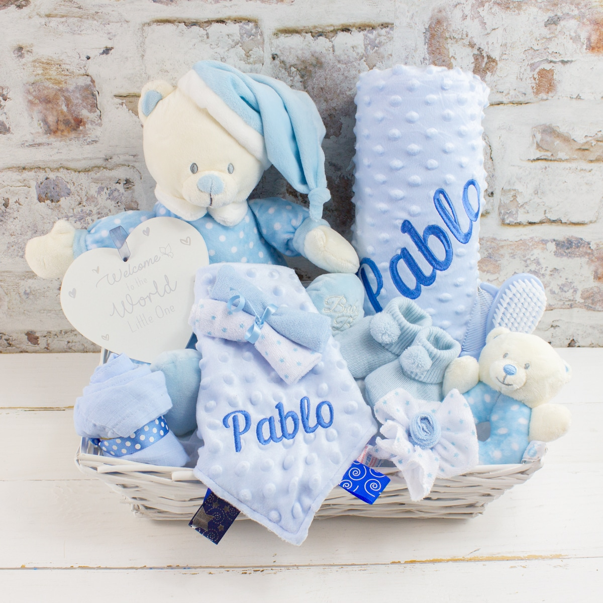 Personalised Baby Boy Premium Gift Hamper