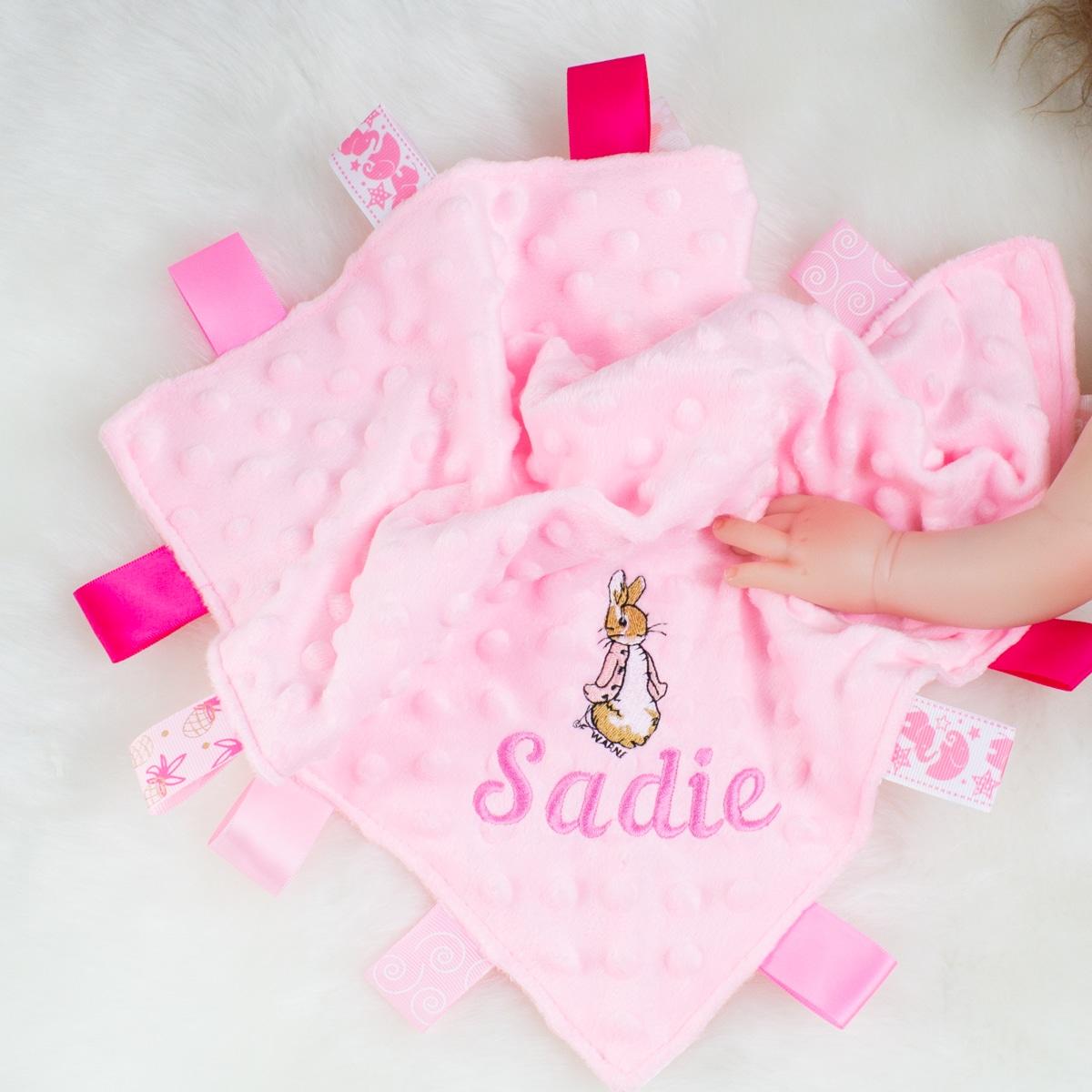 Personalised Peter Rabbit Baby Comforter