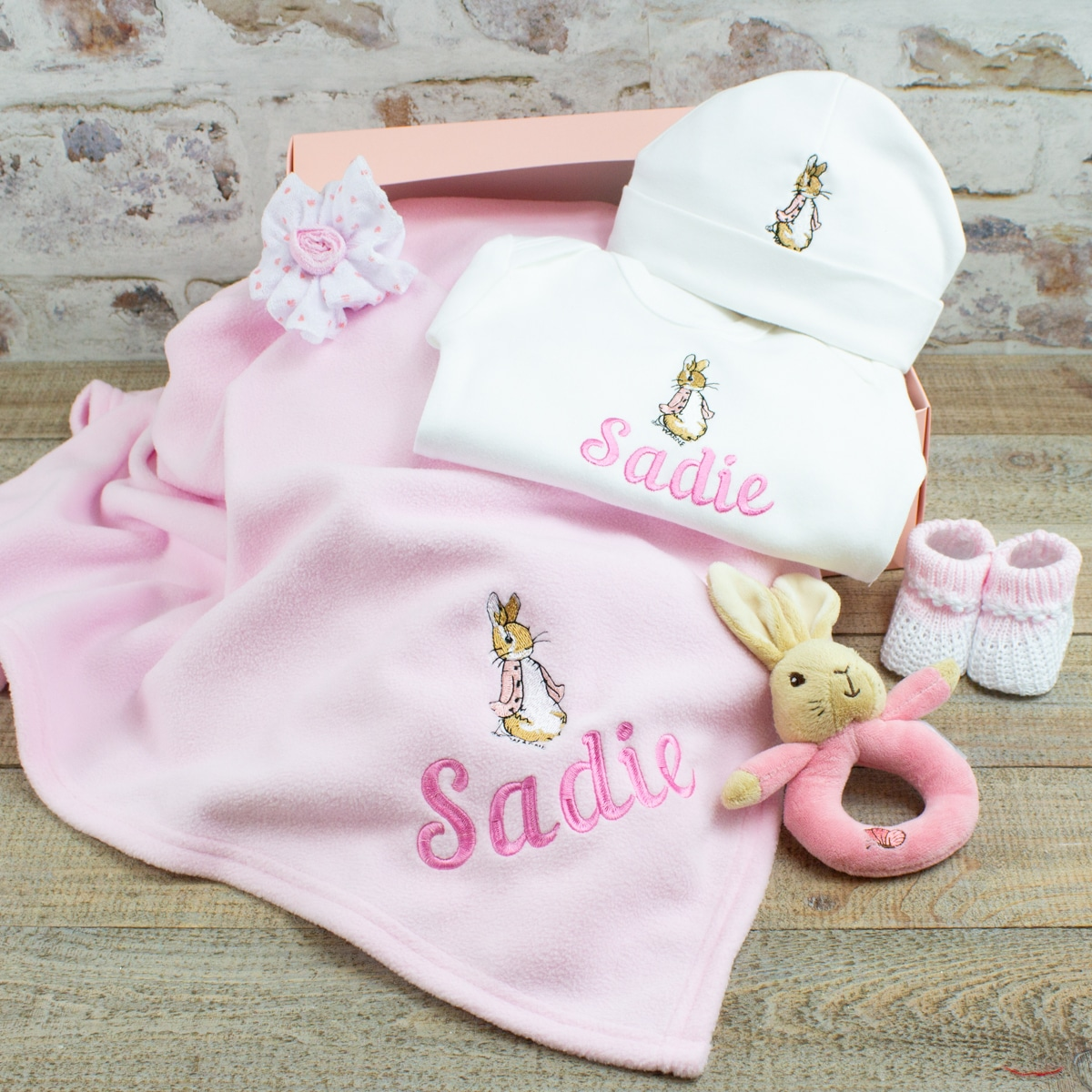 Personalised Peter Rabbit New Baby Gift Hamper