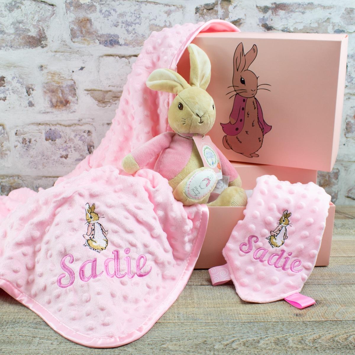 Personalised Baby Girl Peter Rabbit Gift Hamper