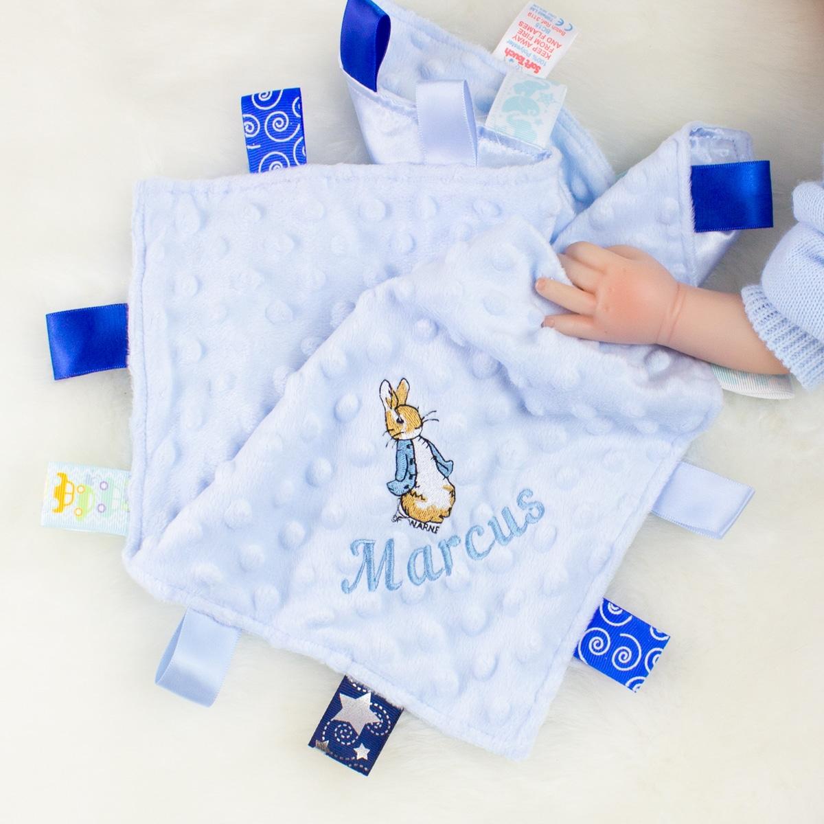 Personalised Blue Peter Rabbit Comforter