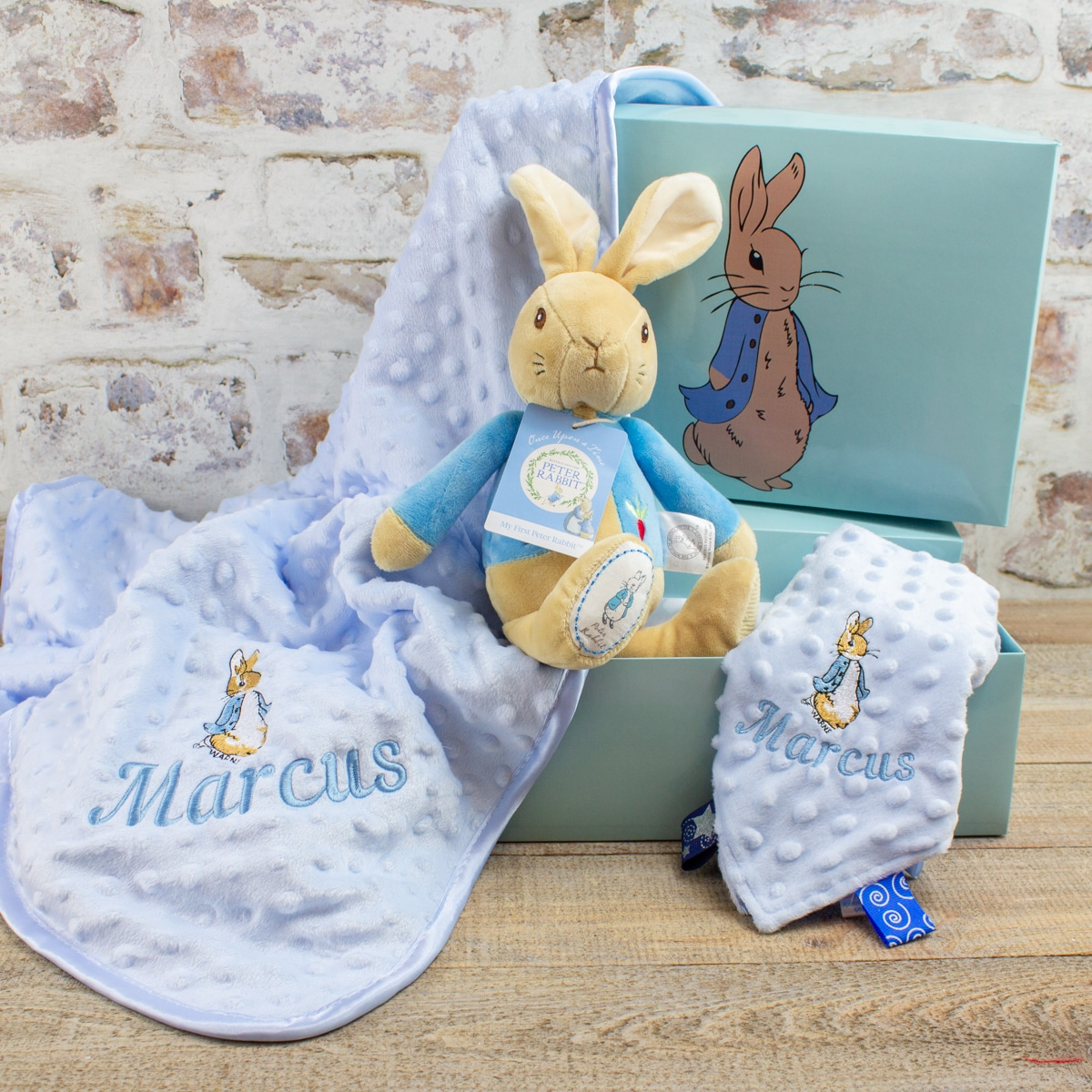 Personalised Peter Rabbit Baby Gift Hamper