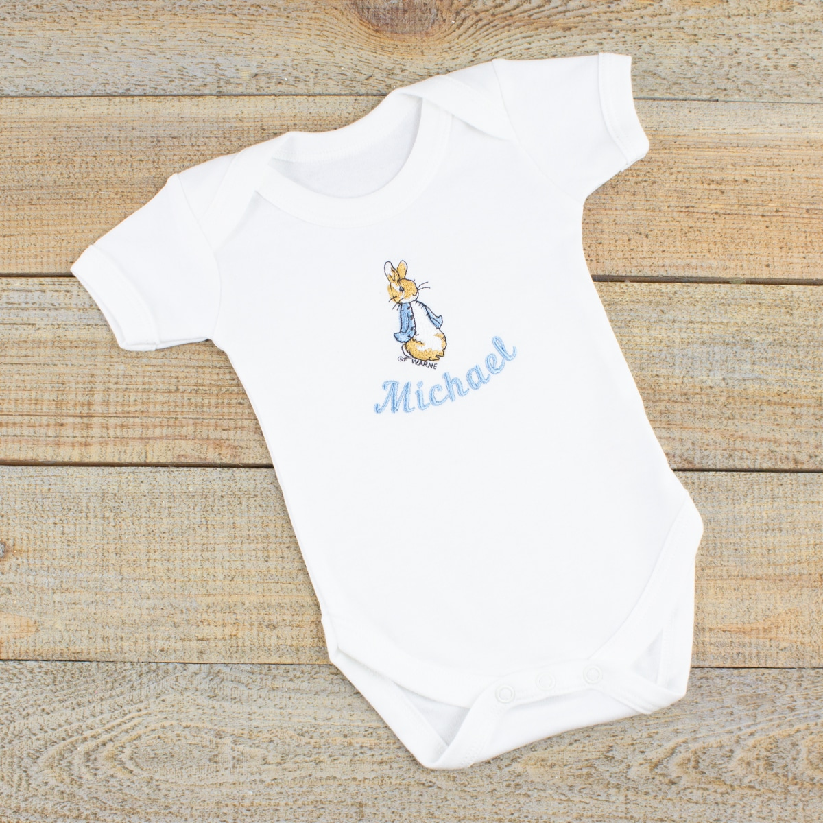 Personalised Peter Rabbit Baby Clothes