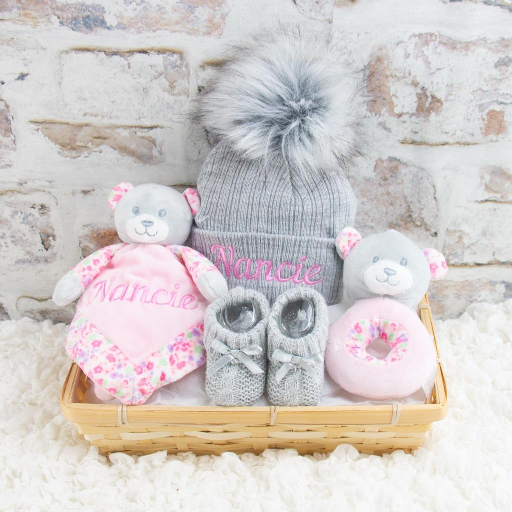 Personalised Pink Teddy Bear Gift Hamper