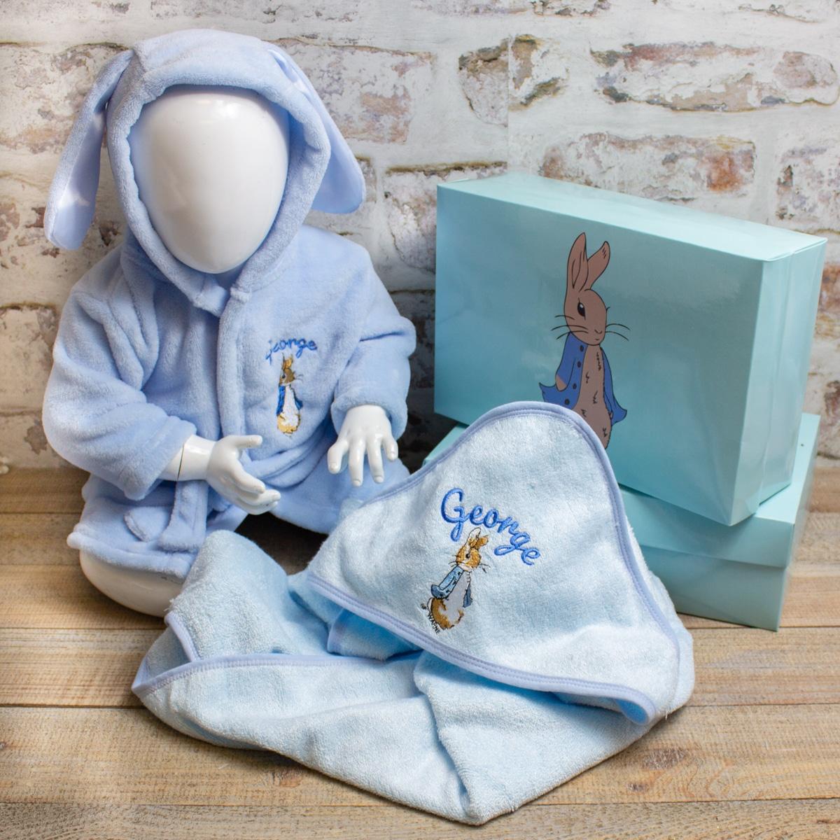 Personalised Peter Rabbit Baby Gift Set